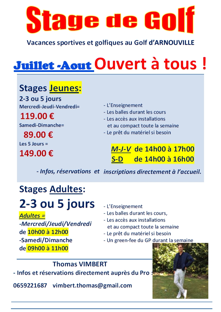 Stages Juillet Aout